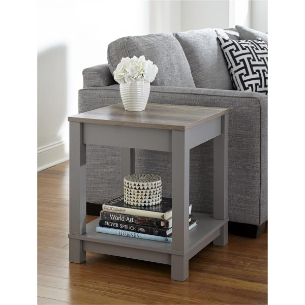 Tables and Trolleys - End Table - Grey