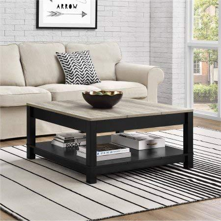 Tables and Trolleys - Wooden Square Coffee Table - Black