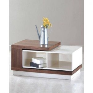 Modern Style Coffee Table - Brown & White