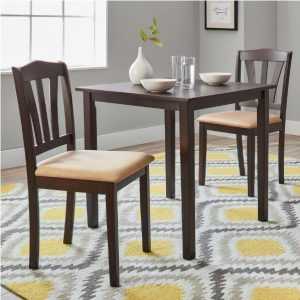 Tables and Trolleys - Contemporary Style 3 Piece Dining Set - Brown
