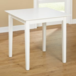 Tables and Trolleys - Simple Living 3-Piece Dining Set - White