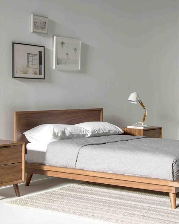 Tables and trolleys Bedroom Set - Bed + Bed Sides Tables