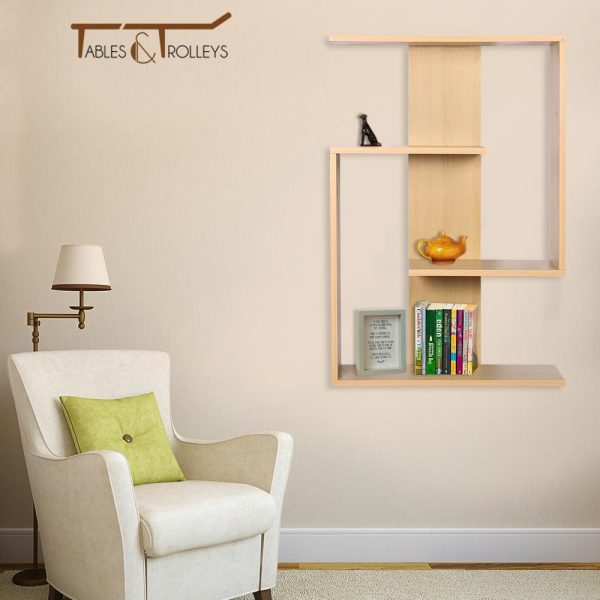 Tables and Trolleys - Wooden Wall Hanging - Light Brown