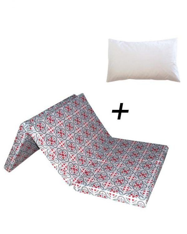 Tables and Trolleys Folding Mattress with Free Pillow