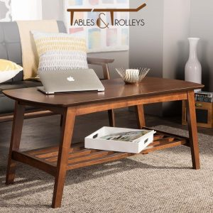 Tables and Trolleys - Modern Scandinavian Style Coffee Table - Dark Walnut