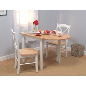 Tables and Trolleys - 3 piece Dining Set - Brown