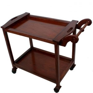 Tea Trolley - Detachable Top - 2 Portions - Brown