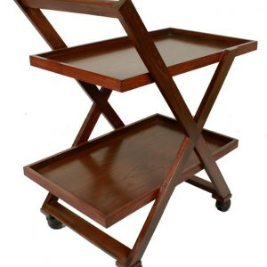 Tea Trolley – 2 Portions – Brown