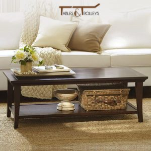 Tables and Trolleys - Coffee Table - Dark Brown