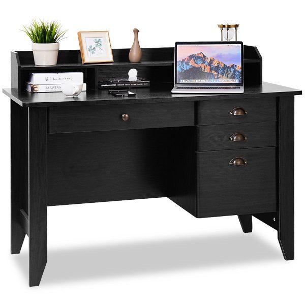 Computer Desk PC Laptop Writing Table Workstation Student Study Furniture-Black