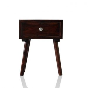 Bedside Table for Bedroom Living Room End Table with 1 Drawer and 1 Shelf Storage - Brown