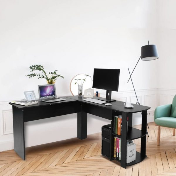 L-Shaped Computer Desk Laptop Desk for Learning and Working