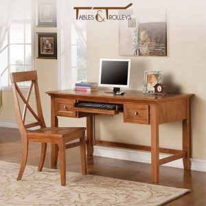 Tables and Trolleys - Study desk+Chair - Brown