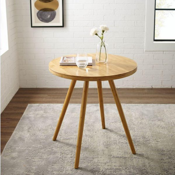 Tables and Trolleys - Mid-Century Modern Bamboo Dining Side Table
