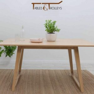 Tables and Trolleys - Dining Table - Brown