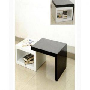 Modern Adjustable Coffee Table - Brown & White