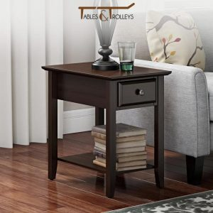 Tables and Trolleys - End Table - Dark Brown