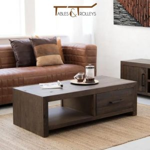 Tables and Trolleys – Coffee Tables – Darkly Stained