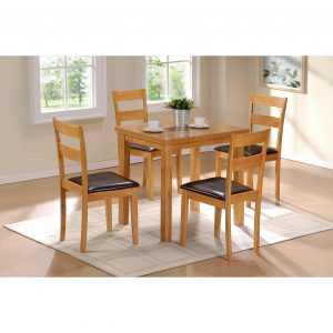 Tables and Trolleys - Natural Finish Dining Table - Brown