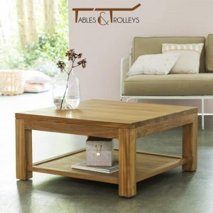 Tables and Trolleys - Wood Coffee Table - Brown