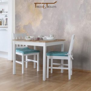 Tables and Trolleys - Dining Set of 2 - White