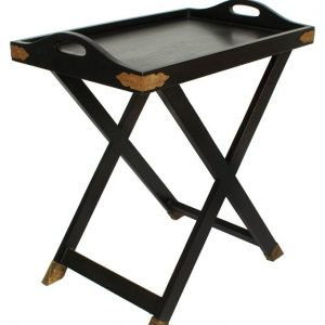 Tea Trolley – Dettachable Tray Top – Single Portion – Black