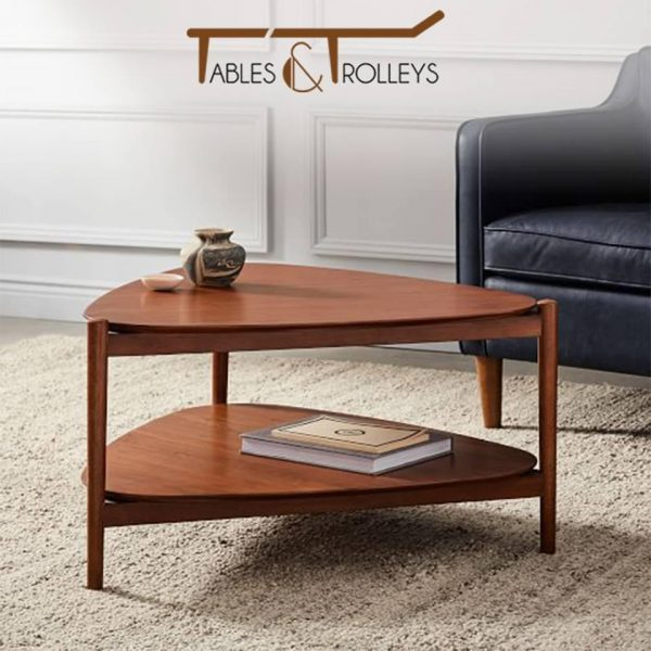 Tables and Trolleys -Tripod Style Coffee Table - Brown