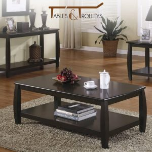 Tables and Trolleys - Wooden Coffee Table - Espresso