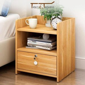 Tables and Trolleys - Bedside Table - Brown