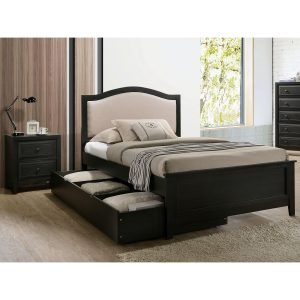 Tables and Trolleys - Modern 3-piece Kids Bedroom Set - Grey/Black