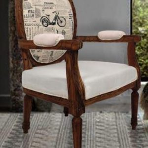 Tables and Trolleys - Arm Chair - Brown