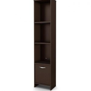 3 section wooden book shelf - Brown