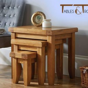 Tables and Trolleys - Nesting Table - Brown