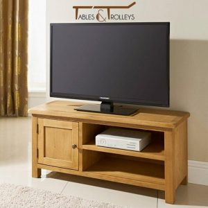 Tables and Trolleys - Wooden TV Unit - Brown