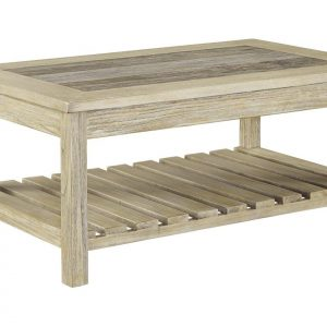 Tables and Trolleys - Coffee Table - Whitewash