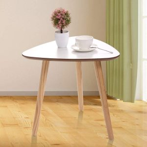 Modern Triangle Coffee Table Real Bamboo Furniture Environmentally Friendly Side Table for Magazines Books & Plants