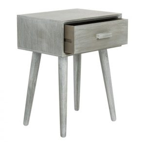 Tables and Trolleys - Single Drawer Accent Table - Grey