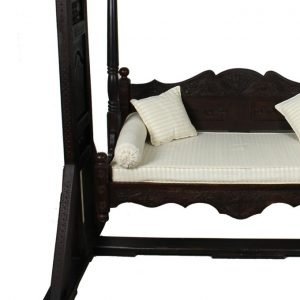 Handcrafted Traditional Wooden Jhoola - Brown
