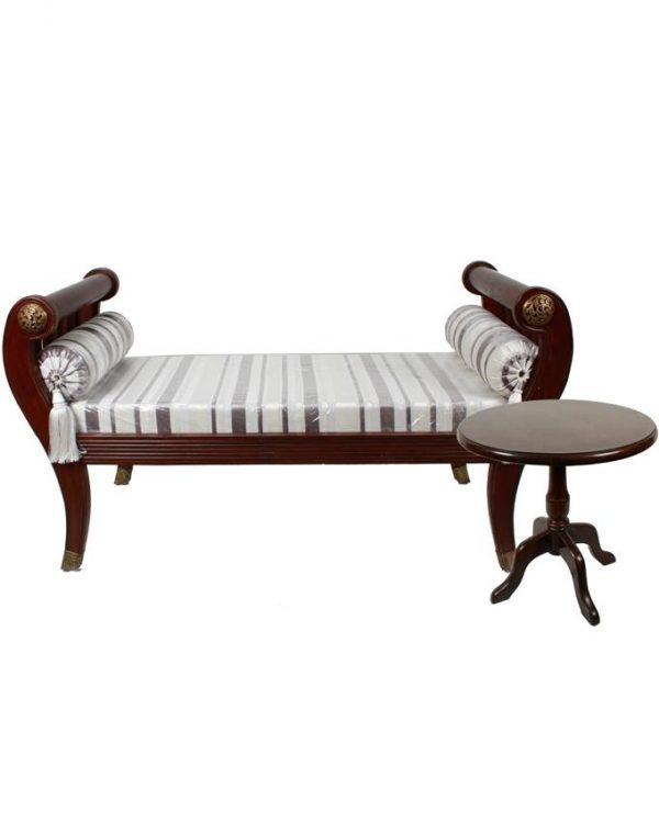 Set of Diwan &Side Table - Brown