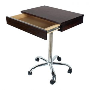 Wooden Laptop Table With Wheels And Drawer